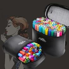 M&G Oily Marker Hand-painted Design Set Student Marker Set 40 Color 80 Color Double Head Marker
