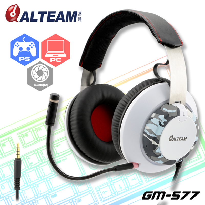 For video game playstation 4 xbox one Extra large Driver Camouflage gamer headsets with detachable microphone gaming headsets playstation