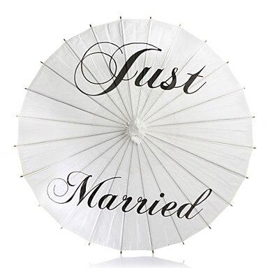 <font><b>White</b></font> Asian Traditional Wooden Wedding <font><b>Paper</b></font> <font><b>Parasol</b></font> for Wedding Photographs <font><b>Paper</b></font> <font><b>Umbrella</b></font> <font><b>Thank</b></font> <font><b>you</b></font> Just Married <font><b>Mr</b></font> & <font><b>Mrs</b></font>