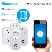 Sonoff S20 Smart WiFi Wireless Socket 10A 2200W Power Supply Plug IOS Android Phone Remote Control for Smart Home EU/US/UK