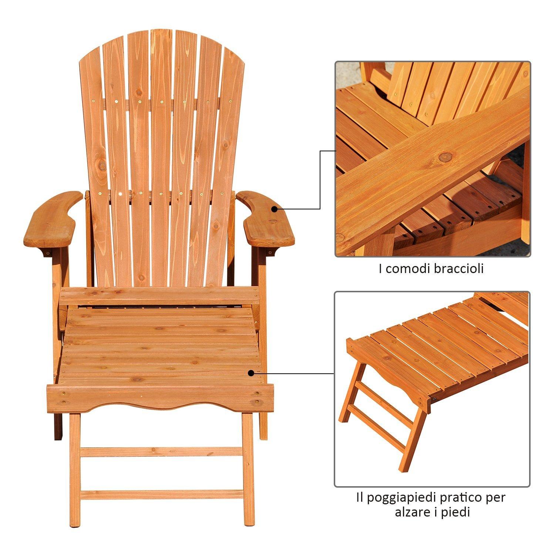 Adirondack Chair Sedie Da Giardino.Outsunny Adirondack Chair Beach Bed Folding Adjustable Footrest Outdoor Garden Wooden 175x70x80 Cm Aliexpress