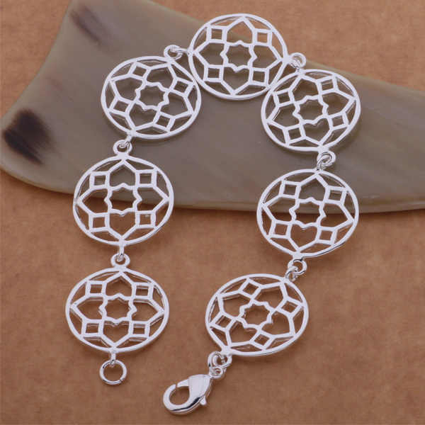 Commercio all'ingrosso di Alta qualità in argento placcato Braccialetti dei monili di Modo WB-084