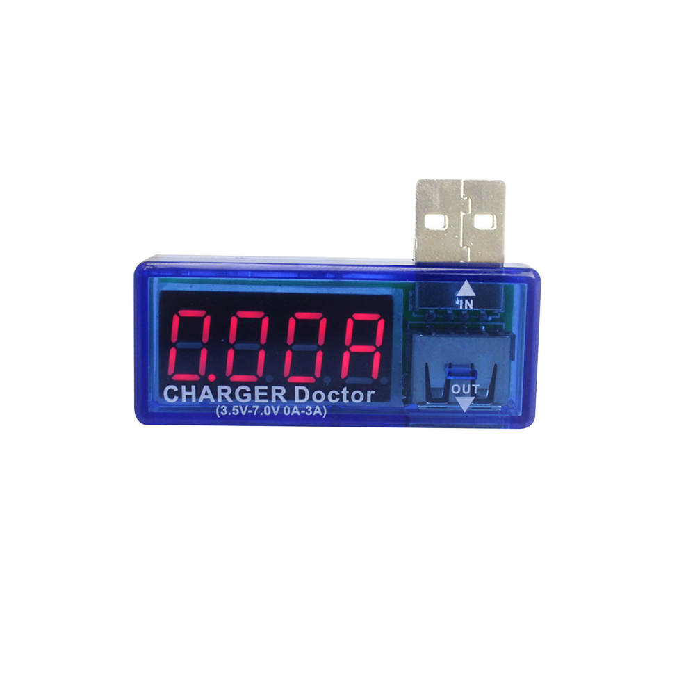 Elettronica intelligente Digital USB Potenza mobile Carica corrente Tester di tensione Tester Mini Caricatore USB Medico Voltmetro Amperometro