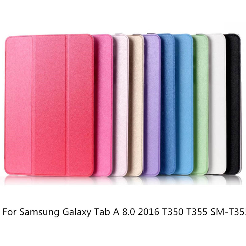 Fashion Stand transparent Pu Leather Case Cover For Samsung Galaxy Tab A 8.0 2016 T350 T355 SM-T355 tablet funda casesFashion Stand transparent Pu Leather Case Cover For Samsung Galaxy Tab A 8.0 2016 T350 T355 SM-T355 tablet funda cases