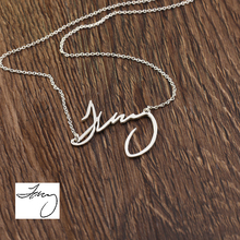 Customized Manuscript Name Necklace Engraved handwritten Personalized Necklace Wholesale