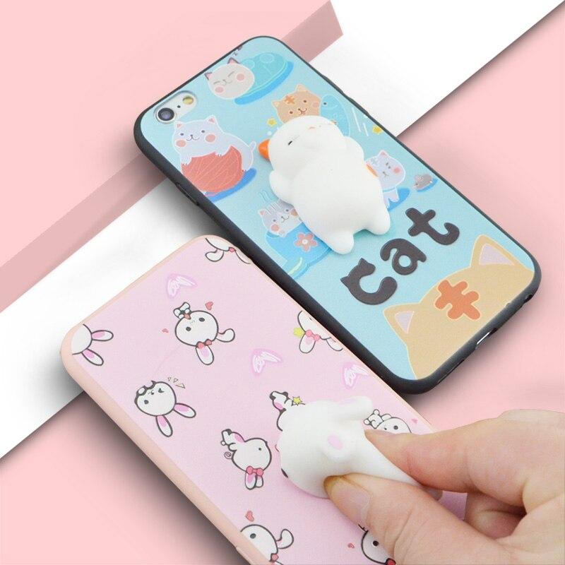 Jderv 3D кошка мягкими телефона чехол для iPhone 6 s 7 5 <font><b>5S</b></font> SE силиконовый чехол симпатичные мягкие ТПУ Коке для iPhone 6 Fundas Капа