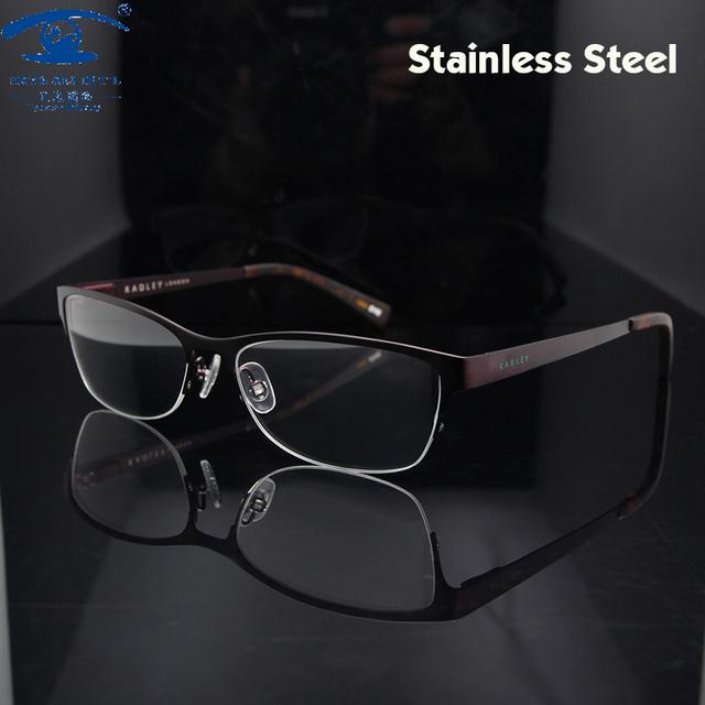 Novas Armações de Óculos de Prescrição Óculos de Grau Design Borboleta das Mulheres Meia Armação Óculos de Miopia Das Mulheres