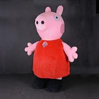 Надувной розовый Peppa Свинья талисман костюм аниме косплей настроить комплекты карнавальный костюм животных надувной костюм для взрослых
