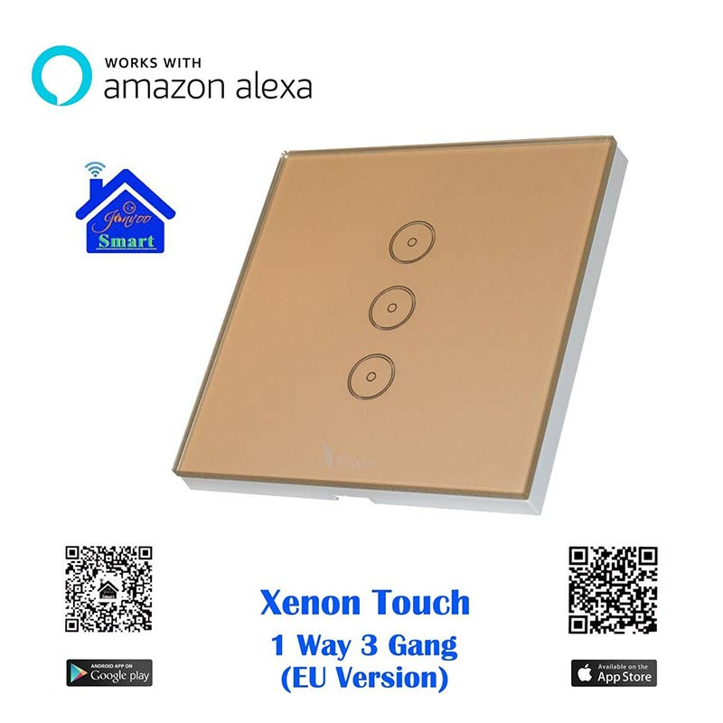 xenon wifi wall switch smart switch works with amazon echo alexa control your devices from. Black Bedroom Furniture Sets. Home Design Ideas