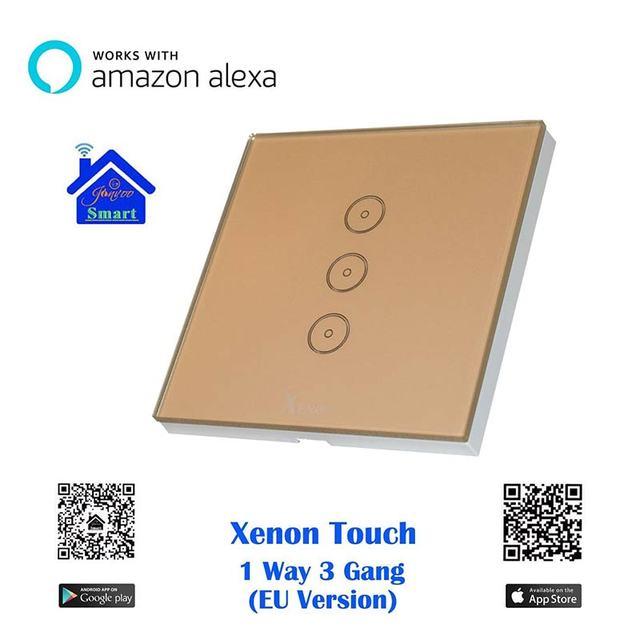 xenon wifi wandschalter smart switch arbeitet mit amazon echo alexa steuern sie ihre ger te von. Black Bedroom Furniture Sets. Home Design Ideas