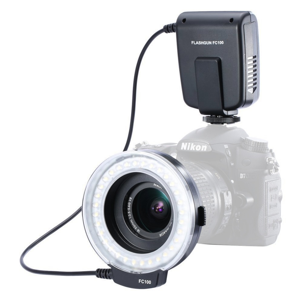 Meike FC-100 Led Makro-ringblitzleuchte für Canon Nikon Olympus Panasonic Pentax
