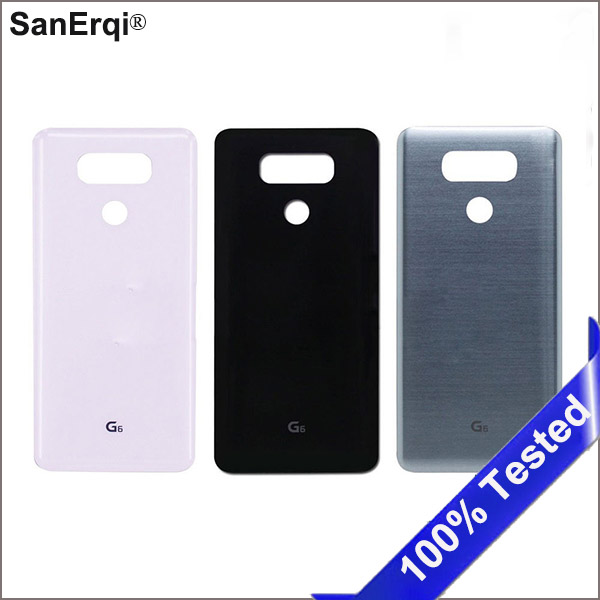 For <font><b>LG</b></font> <font><b>G6</b></font> LS993 US997 VS998 H870 H871 H872 <font><b>H873</b></font> Back Glass Battery Cover Rear Door Housing With Adhesive Sticker image