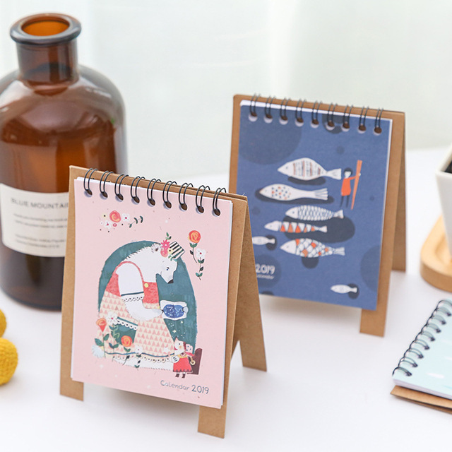 Fine Us 1 62 2019 Cute Cartoon Animals Series Calendars Mini Table Desk Calendar Office Work Learning Schedule Periodic Planner Stationery In Calendar Beutiful Home Inspiration Truamahrainfo