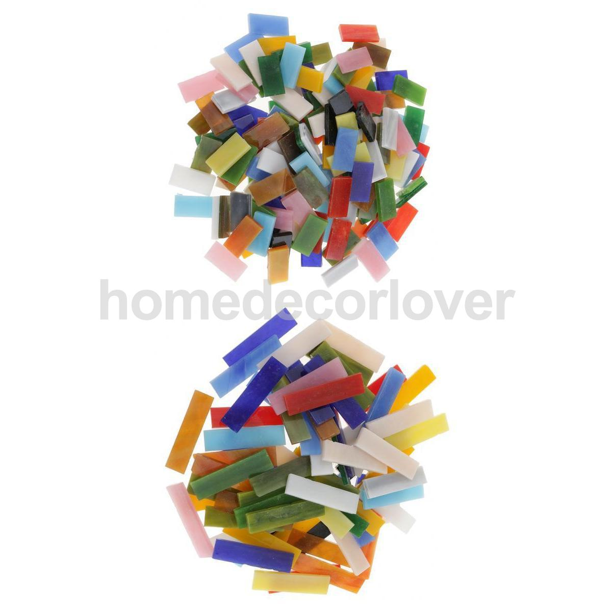 50-500g Mixed Color Glass Crystal Mosaic Tiles DIY Craft School Mosaic Making US