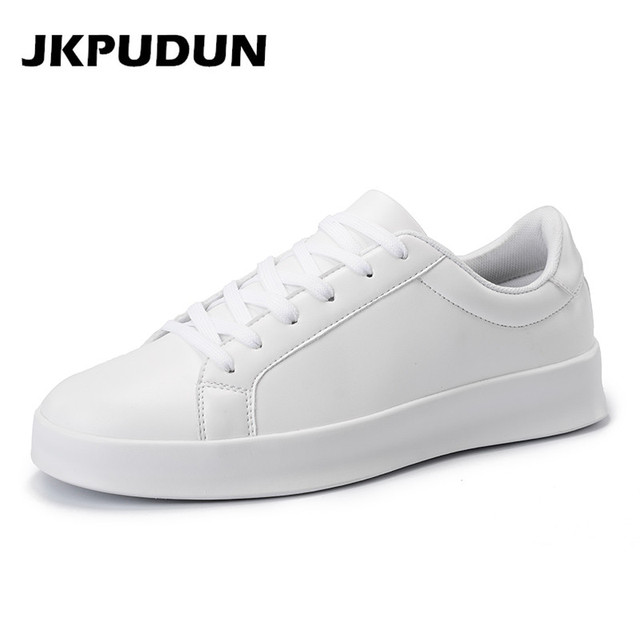 d4518cef2bad JKPUDUN Mens Platform Klimplanten Schoenen Casual Luxe Merk Sneakers Mannen  2017 Italiaanse Mode Witte Schoenen Mannen