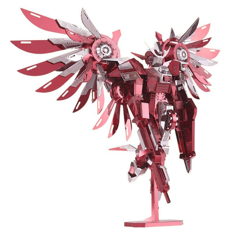 Piececool 3d Metal Nano Puzzle Thundering Wings Gundam Robots Knight Assemble Model Kits P069-RS DIY 3D Laser Cut Jigsaw Toys