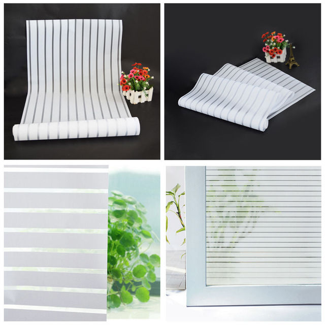Office decorative Work Hot Sale 40x200cm Glass Window Film Frosted Privacy Striped Office Decorative Self Adhesive Glasses Window Decals Destineinfo Hot Sale 40x200cm Glass Window Film Frosted Privacy Striped Office