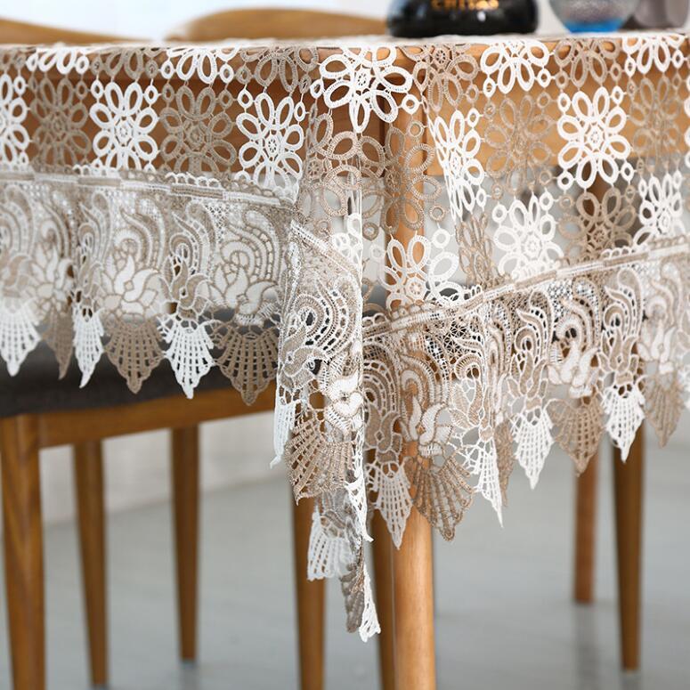 Stolze Rose Spitze Tischdecke Tischdekoration Mode Hochzeit - Haustextilien - Foto 2