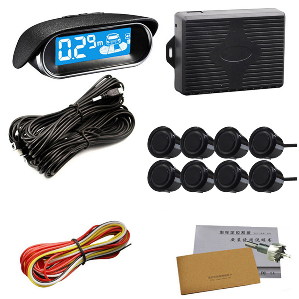 2017 8 sensors Parking sensors NY3030 electronics cars led parking assistance rear view rever backup <font><b>radar</b></font> <font><b>detector</b></font> monitor 22mm