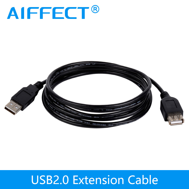 AIFFECT 2M 3M USB Extension Cable USB Type A Male to Female Extension Cable Extension Line USB to USB