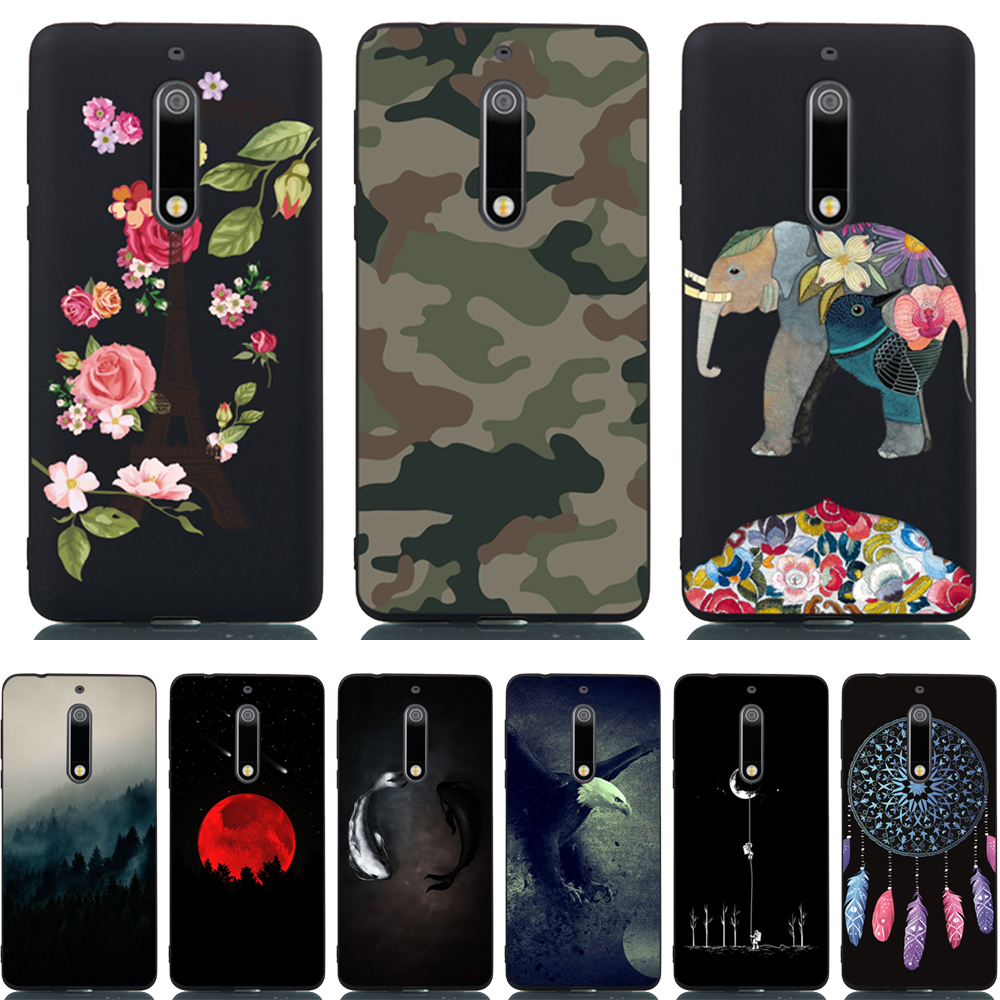 FOR Capa <font><b>Nokia</b></font> 5 <font><b>Nokia</b></font> 3 Case Cartoon Drawing Painting Cover FOR <font><b>Nokia</b></font> 3 Soft TPU Silicone Shells For Nokia5 TA-<font><b>1053</b></font> Phone Case image