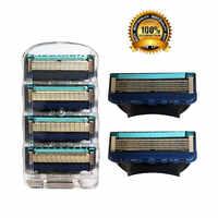 4 pz/pacco Uomini Lame di Rasoio Da Barba di Alta Qualità Cassette Per La Cura Del Viso Degli Uomini Rasatura Blades Compatibile con Gillettee Fusione