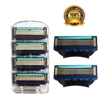 4pcs/pack Men Razor Blades High Quality Shaving Cassettes Facial Care Men Shaving Blades Compatible with Gillettee Fusione high quality 4pcs pack 100