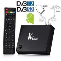 SıCAK Android 5.1 + DVB-T2 Karasal + DVB-S2 HD AC3 Uydu IPTV Combo Dönüştürücü Alıcı Dekoder Wifi H.265 KODI 4 K TV Kutusu