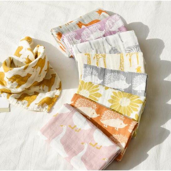 new Cotton Baby Blankets Newborn Soft Organic Cotton Baby Blanket Muslin Swaddle Wrap Feeding Burp Cloth
