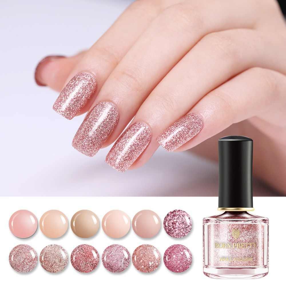 Ногти розовые с блестками