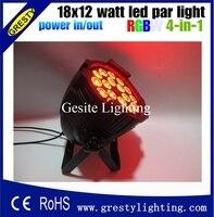 ¡Superventas! mezcla de colores led par 18x12w rgbw 4n1 equipo de dj luz envío gratis con potencia de salida