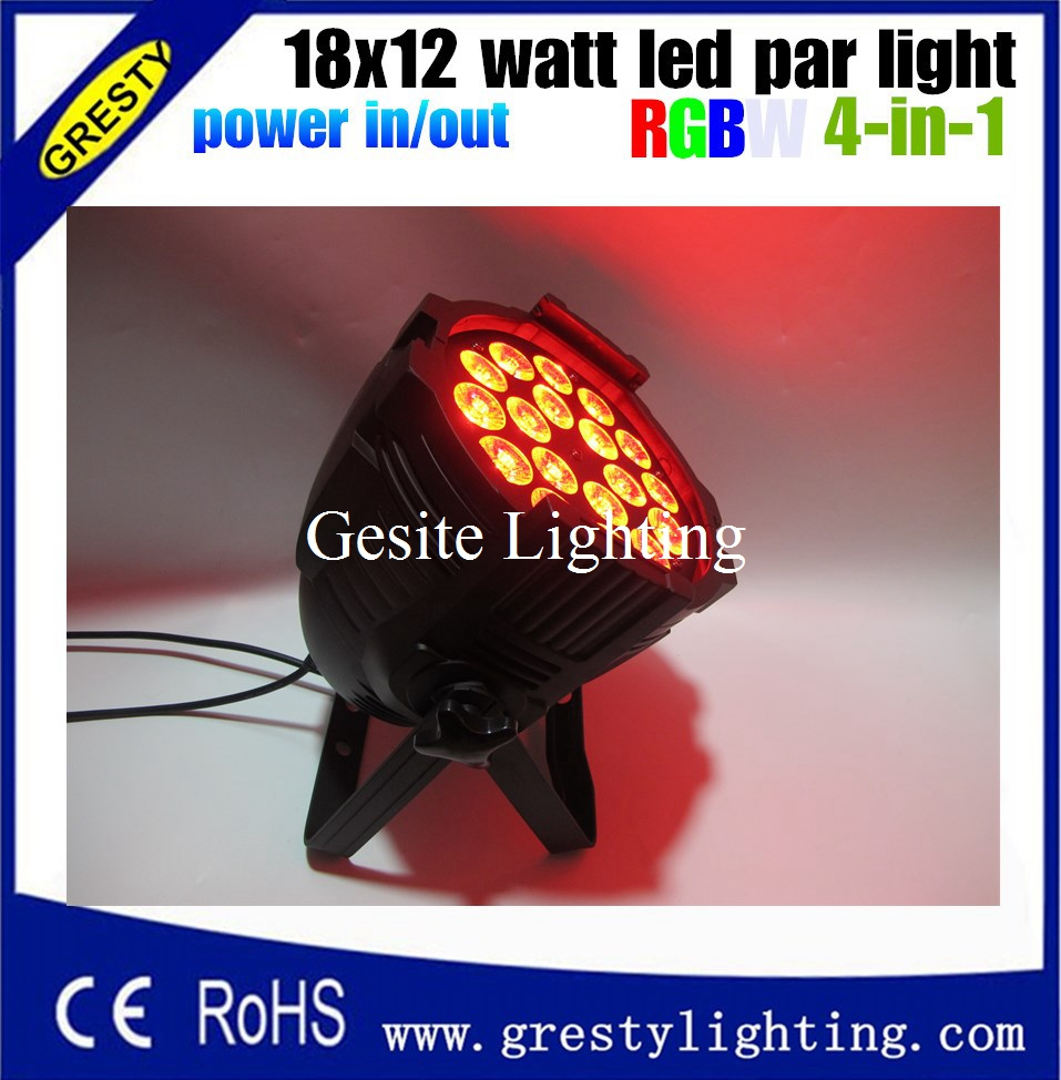 top-selling color mixing led par 18x12w rgbw 4n1 dj equipment light free shipping with power in power out