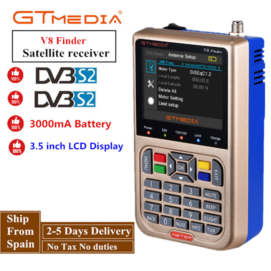 GTMEDIA / Freesat V8 Finder HD DVB-S2 Digital Satellite Finder High Definition Sat Finder DVB S2 Satellite Meter Satfinder 1080P