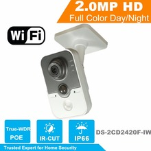 Hikvision OEM WiFi Security Camera IPC3412-W 2MP IR Cube Wireless IP Camera Replace DS-2CD2420F-IW Built-in speaker