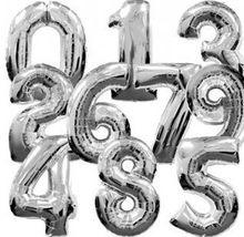 Ballon à chiffres en aluminium de grande taille de 85cm, 50 pièces/lot, vente en gros, couleur argent, pour mariage, livraison gratuite