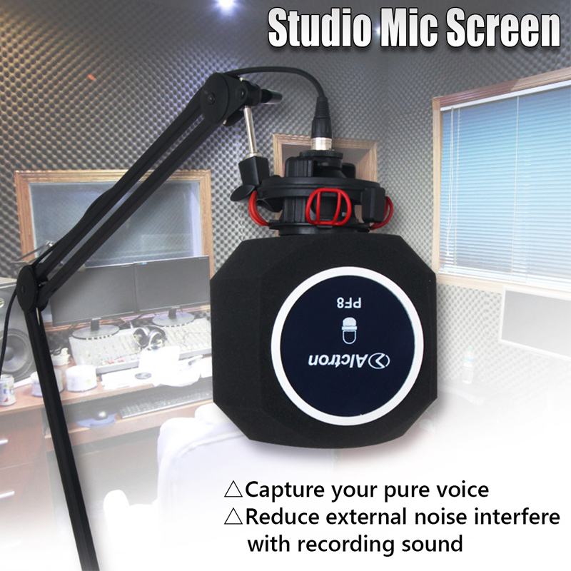 US $24 36 16% OFF|Alctron PF8 Professional Simple Studio Mic Screen  Acoustic Filter New Arrive Desktop Recording Wind Screen-in Microphone  Accessories