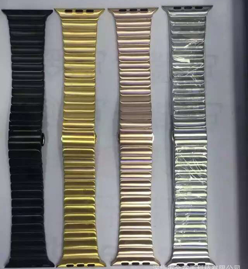Image 4 - URVOI link bracelet for apple watch band series 5 4 3 2 1 stainless steel strap for iwatch with butterfly buckle 38/40/42/44mm-in Watchbands from Watches
