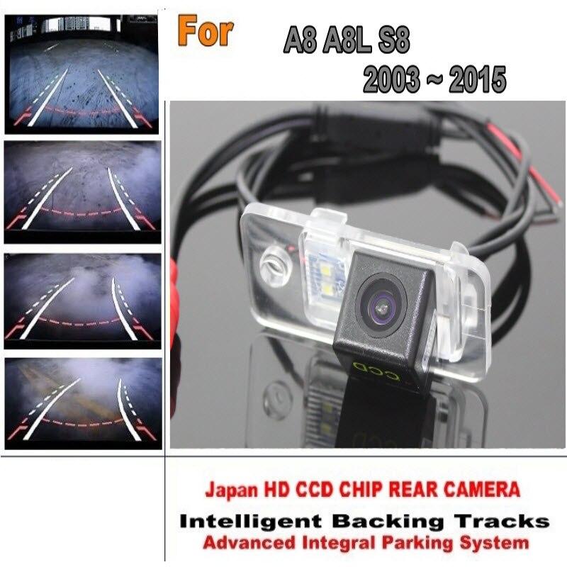 Car Parking Camera For Audi A8 A8L S8 2003 ot 2015 CCD Night Verson Rearview Camera Smart Back Up Tracks Camera zayavlenie ot strelkova 22 06 2014 2003