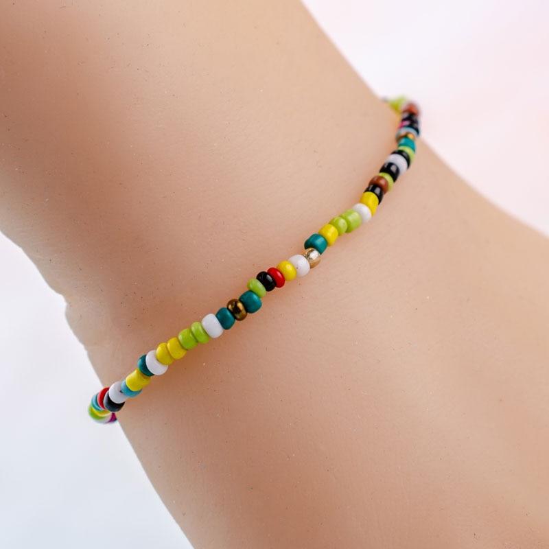 Qualified 10pcs/lot Handmade Seed Bead Thin Bracelet Bohemia Style Lucky Bracelets & Bangles For Women Men Adjustable Beach Bracelets Sale Price Charm Bracelets Jewelry & Accessories