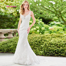 LEIYINXIANG Elegant 2019 Wedding Dress Sleeveless Backless