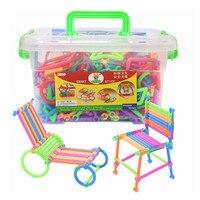 500 шт составное здание блоки DIY умная палка пластиковые блоки воображение творческие Обучающие игрушки Детский подарок