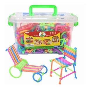 Image 1 - 500 יחידות התאסף אבני בניין DIY חכם מקל פלסטיק בלוקים דמיון יצירתיות למידה חינוכית צעצועי ילדי מתנה