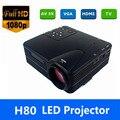 Полки в ближайшее время Full HD Домашний Кинотеатр Кино H80 LCD Изображения Система 80 Люмен МИНИ СВЕТОДИОДНЫЙ Проектор с AV/VGA/SD/USB/HDMI бесплатная доставка
