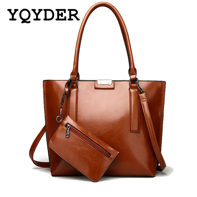 Large Leather Vintage Tote Bags Women Designer Handbags Sac High Quality Casual Composite Bag New Shoulder