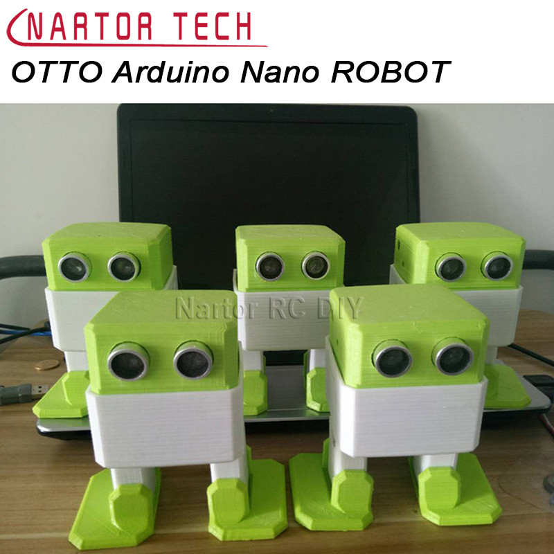 OTTO Arduino Nano ROBOT Open Source Maker Obstacle Avoidance DIY Humanity Playmate 3D fast free ship electronic diy programmable console open source game development board for arduino develop
