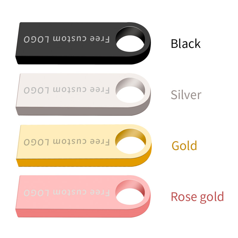 Image 3 - High speed usb stick 2.0 black keychain 128GB usb flash drive 4GB 8GB 16GB 32GB 64GB flash disk waterproof metal Free print LOGO-in USB Flash Drives from Computer & Office