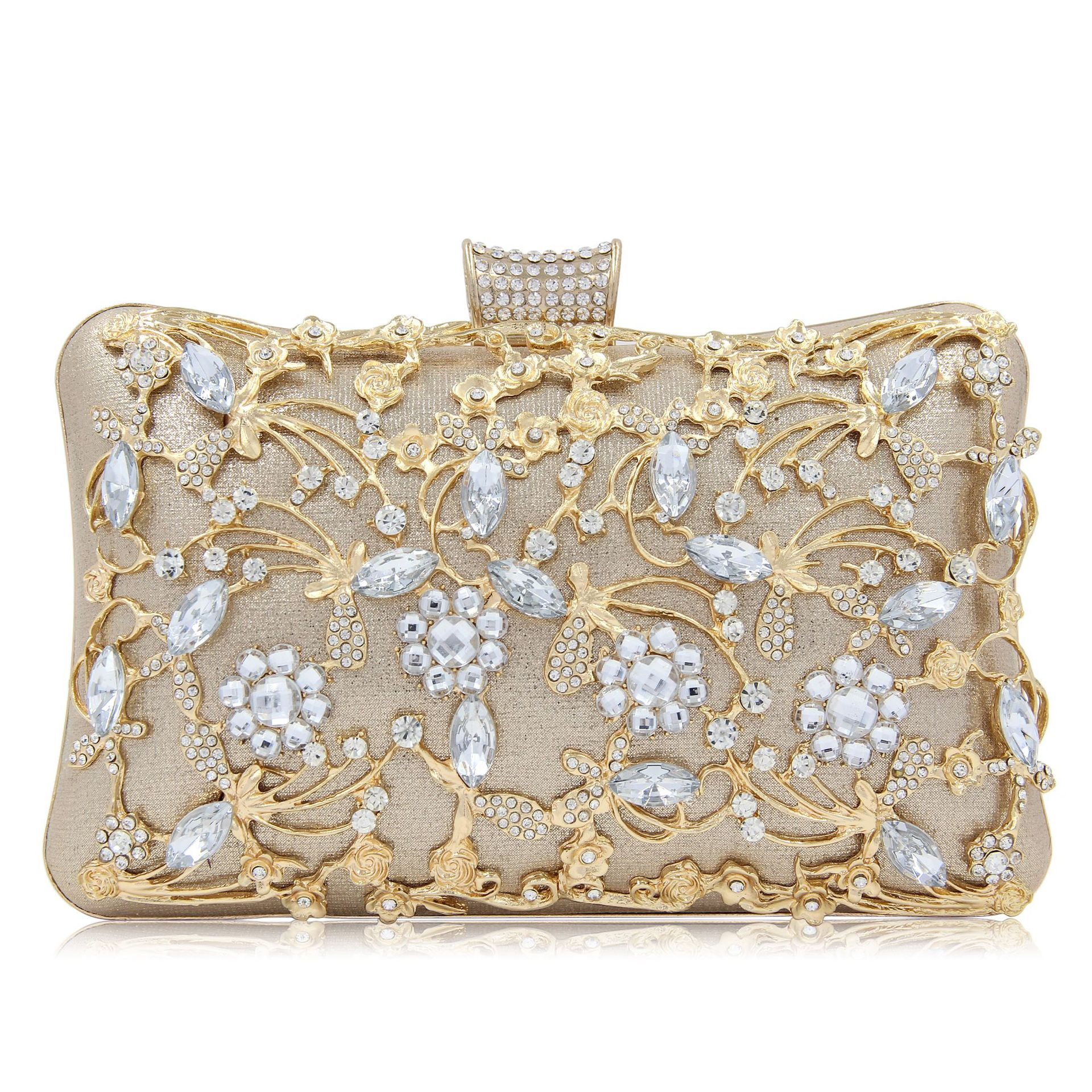 Hollow Diamond Women Evening Clutch Bags Cheongsam Bag Rhinestone Evening Party Bags Ladies Day Clutches Purses Shoulder Bags retro 2017 floral beaded handbag women shoulder bags day clutch bride rhinestone evening bags for wedding party clutches purses