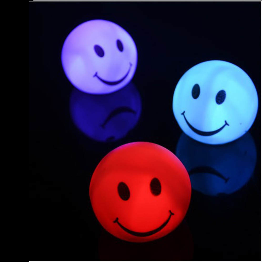 New Fashion Color Changing LED Smiling Face Shaped Night Light Lamp For Party Bedroom Decor Wedding Christmas Gifts smiling face pattern color changing night light lamp white 3 x lr44