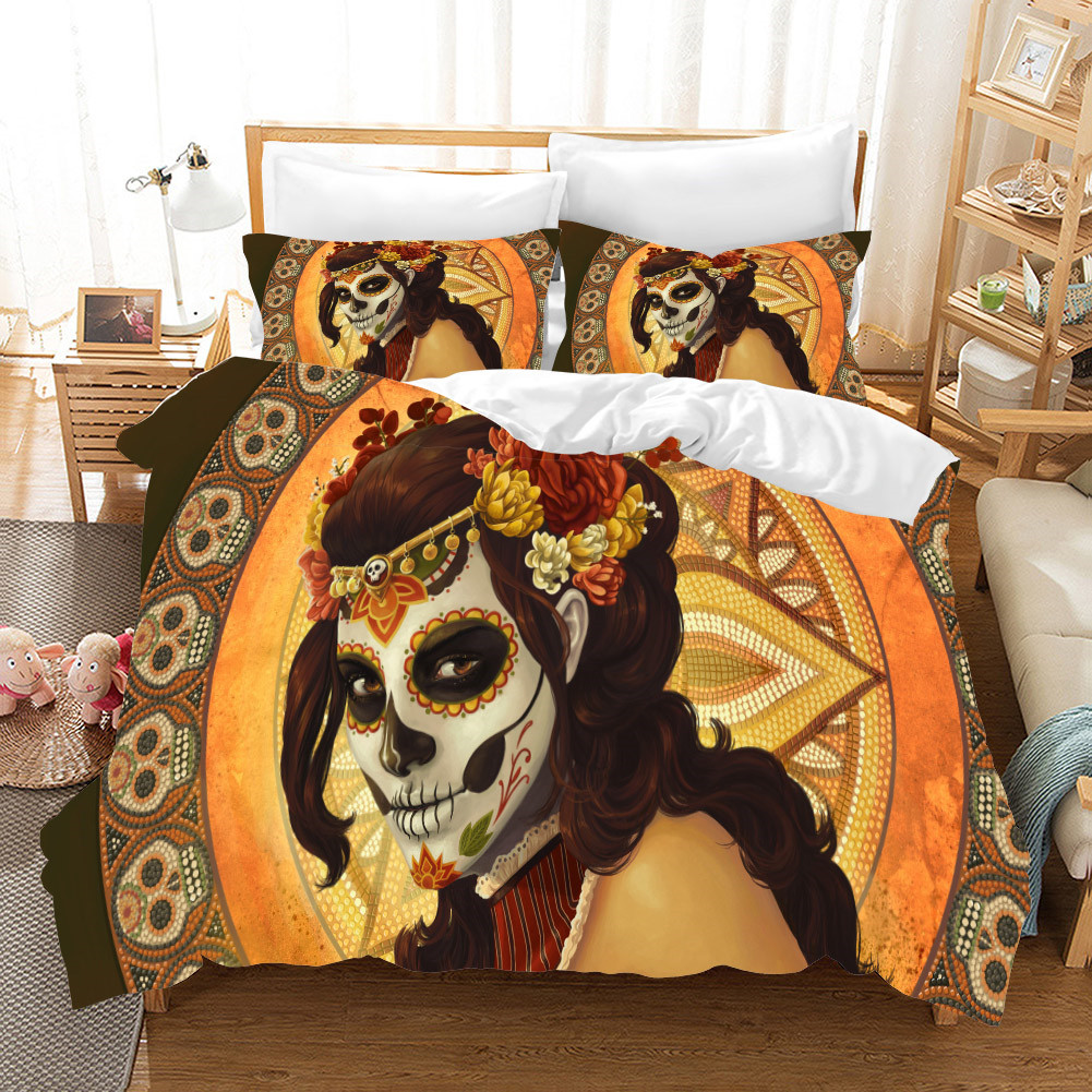 Fanaijia 3D Skull Duvet Cover Set with Pillowcase Bedding Sets Luxury cool Bed Set Home Textiles
