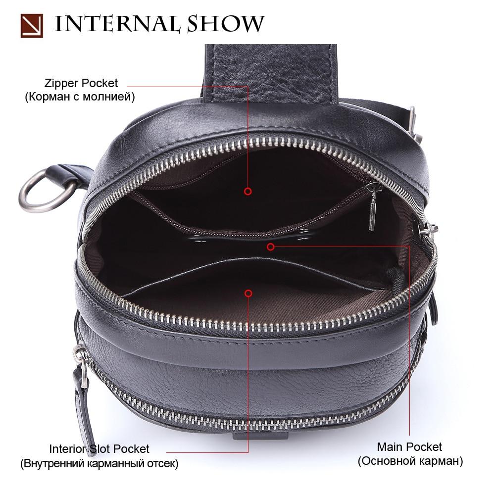 SEVENE нагрудные сумки на одно плечо сумка Повседневная Натуральная кожа сумки через плечо мужские сумки мессенджеры сумки для бега альпинистские дорожные сумки - 3